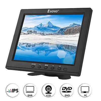 PORTABLE 8 ZOLL 800 600 IPS BILDSCHIRM VIDEO MONITOR HDMI VGA AV AUDIO F R CCTV