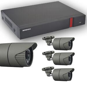 Videoüberwachung Set HD 960p mit 4x Aussen Überwachungskamera + 2 TB Festplatte