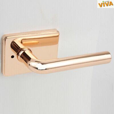 Viva 1000Vincero RoseGold Tubular Lever Door Lock Handle