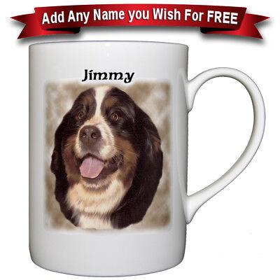 Basset Hound - Fine Bone China Mug + Personalized with any name added free