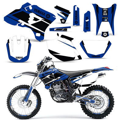 2003 2004 WR250F WR450F Graphics Decal Kit #6666 Blue Skull Free Custom Service Motorcycle Decals, Emblems & Flags