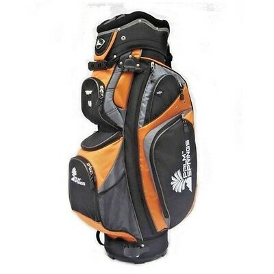 - NEW Palm Springs Golf 14 Way Full Length Divider Cart Bag Orange/Silver 16'