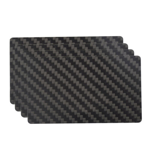 Lot 100 3K Twill Glossy Carbon Fiber Business Cards Size