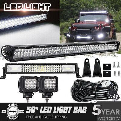 "52INCH 288W LED Light Bar Combo+22"" 306W+4"" 36W Fit Jeep Wrangler JK YJ CJ LJ TJ"