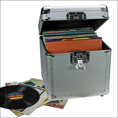 Safe Schallplatten Koffer für bis zu 100 Langspielplatten 33er (221)
