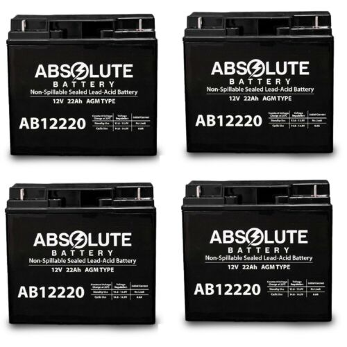 4 PACK AB12220 12V 22AH SLA Battery for Electric Mobility Ra