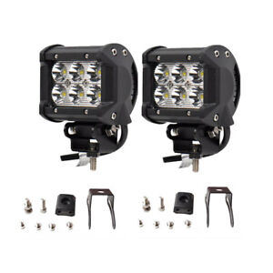 2x 4INCH 36W CREE LED WORK LIGHT BAR SPOT OFFROAD ATV FOG TRUCK LAMP 4WD 12V 6