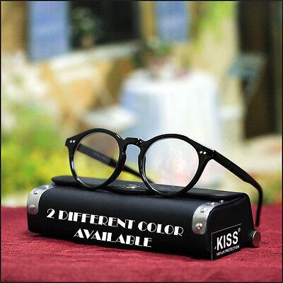 NEW MENS RETRO EYEGLASSES ROUND TRENDY GEEK STYLISH SHAPE AWSOME ROCK CLEAR (Eyeglasses Round Rock)