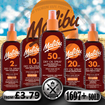 Malibu Dry Oil Spray 200ml, Malibu Dry Oil Spray 100ml, All Spf  👉 1697 + Sold