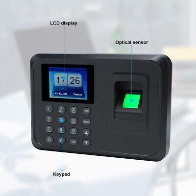 2.4 Inch Biometric Fingerprint Attendance Employee Time Clock Usb Tft Us A0o0