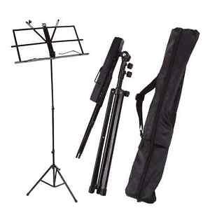 Handy Portable Adjustable Folding Music Stand with Bag Black