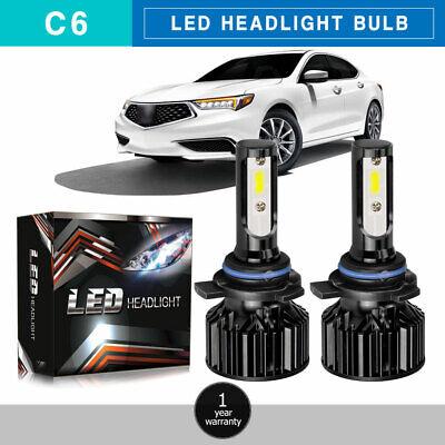 9012 HIR2 LED Headlights Bulbs 40W 3200LM Kit High Low Beam Upgrade 6000K