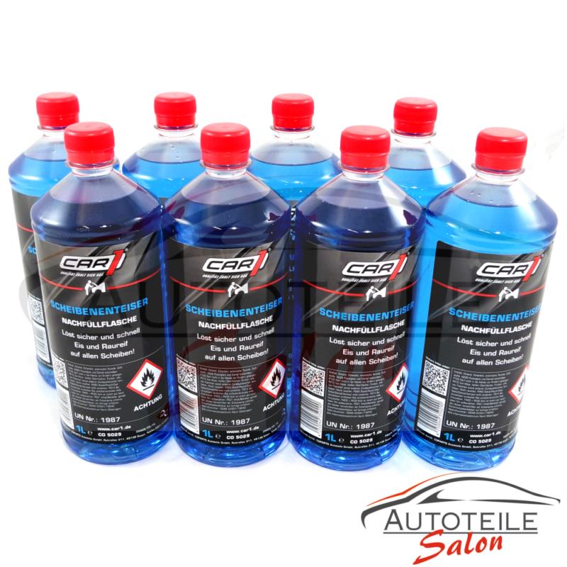 8x CAR1® Scheiben-Enteiser 1l Nachfüllflaschen CO5029 Gebrauchsfertig