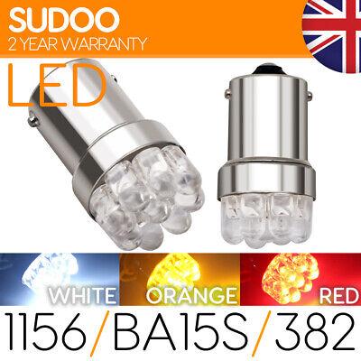 1156 Ba15s 382 Led White Reverse P21w Amber Indicator Red Fog Brake Light Bulb