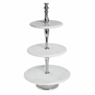 Tiered Display Stand For Baskets 3 Tiers Steel Chrome Espresso - 20 12l X 12w