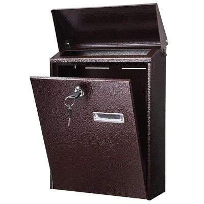 Steel Mailbox Mail Box Wall Mount Newspaper - Steel Wall Mount Mailbox