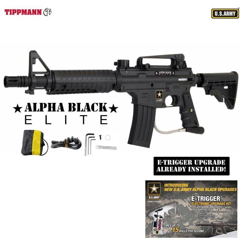 Tippmann U.S. Army Alpha Black Elite Tactical w/ E-Grip Paintball Gun - Black