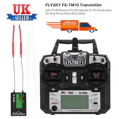 FLYSKY FS-TM10 10CH 2.4GHz AFHDS 2A Remote Controller Transmitter with Receiver