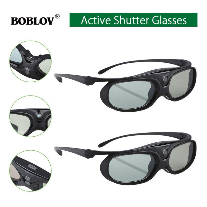 2x active shutter 3d glasses dlp link