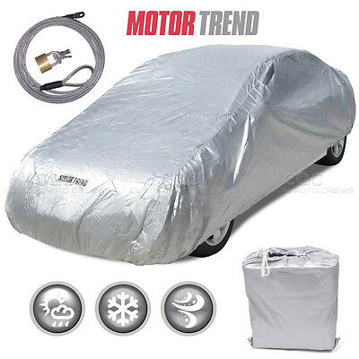 Motor Trend All Weather Outdoor Waterproof Car Cover Fits up to 190 W Lock