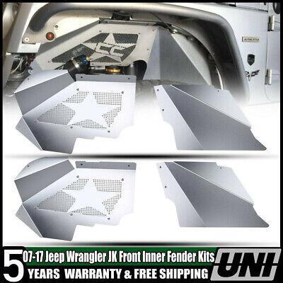 Front Inner Flat Fender Liner Flares Off-Road For 2007-2018 Jeep Wrangler JK 4WD