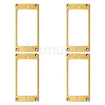 4pcs Flat Metal Humbucker Pickup Mounting Ring - Gold