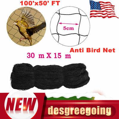 100x50 Ft Netting Poultry Anti Bird Aviary Fruit Garden Protection Net Mesh Us
