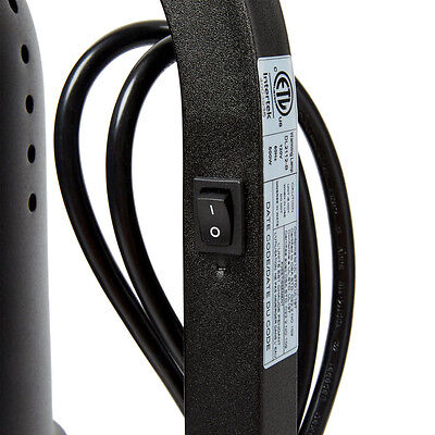 Avantco Black 2 Bulb Free Standing Heat Lamp Food Warmer With Pan And Grate Reb