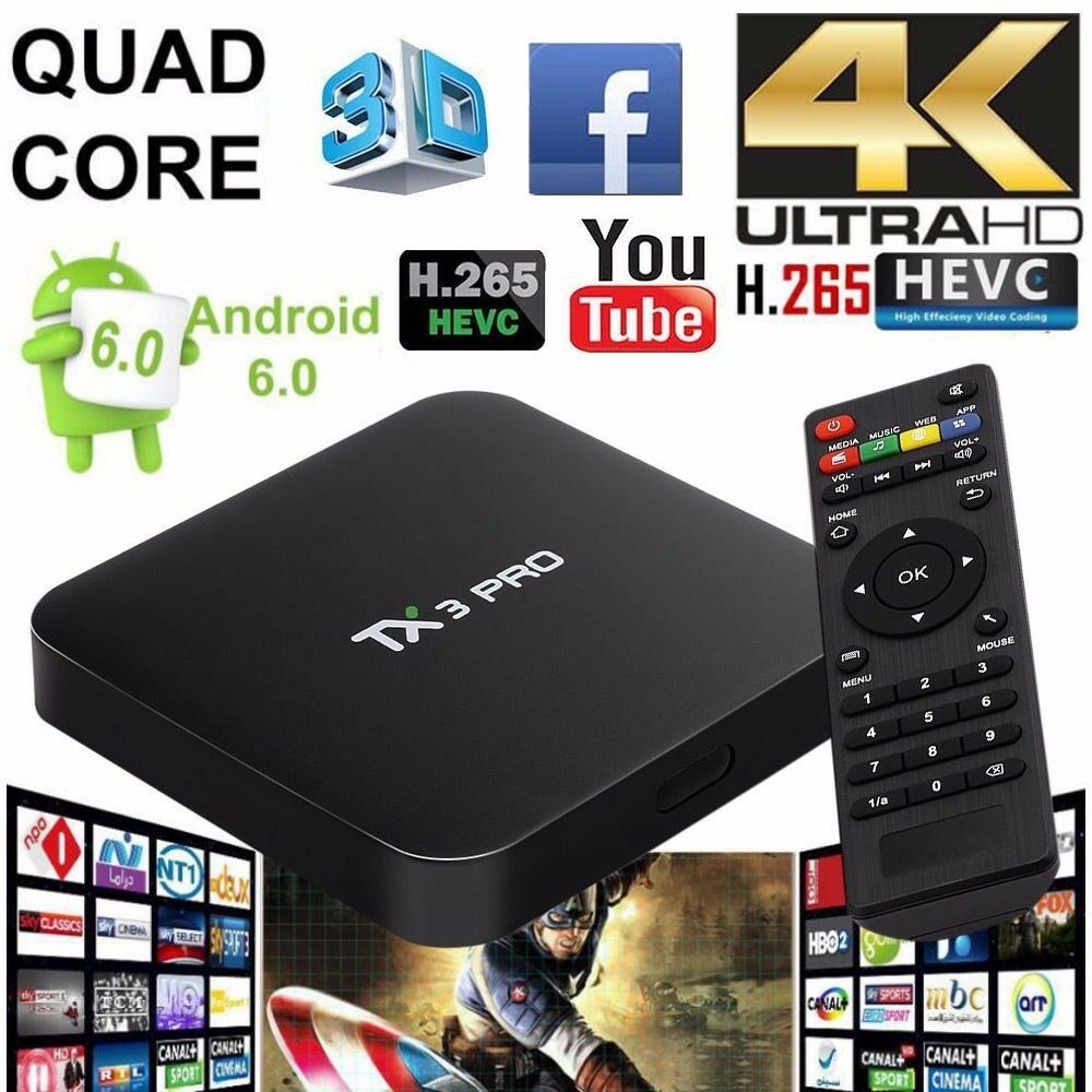 TX3 Pro TV Box Amlogic S905X Android 6.0 4K