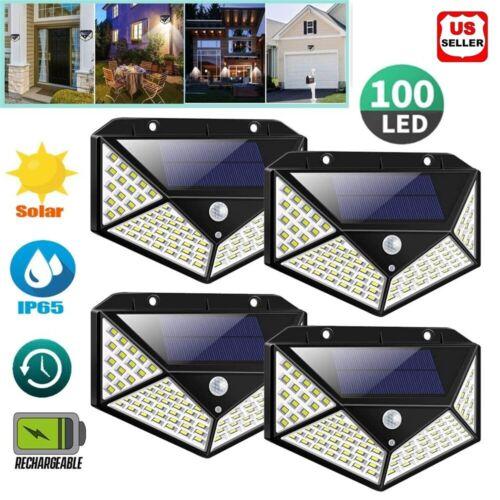 100 LED PIR Motion Sensor Wall Light Solar Power Waterproof Outdoor Garden Lamp Home & Garden
