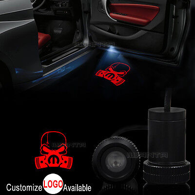 2x Car Door Respirator Gas Mask Biohazard Skull LED Laser Projector Shadow - Biohazard Respirator Mask
