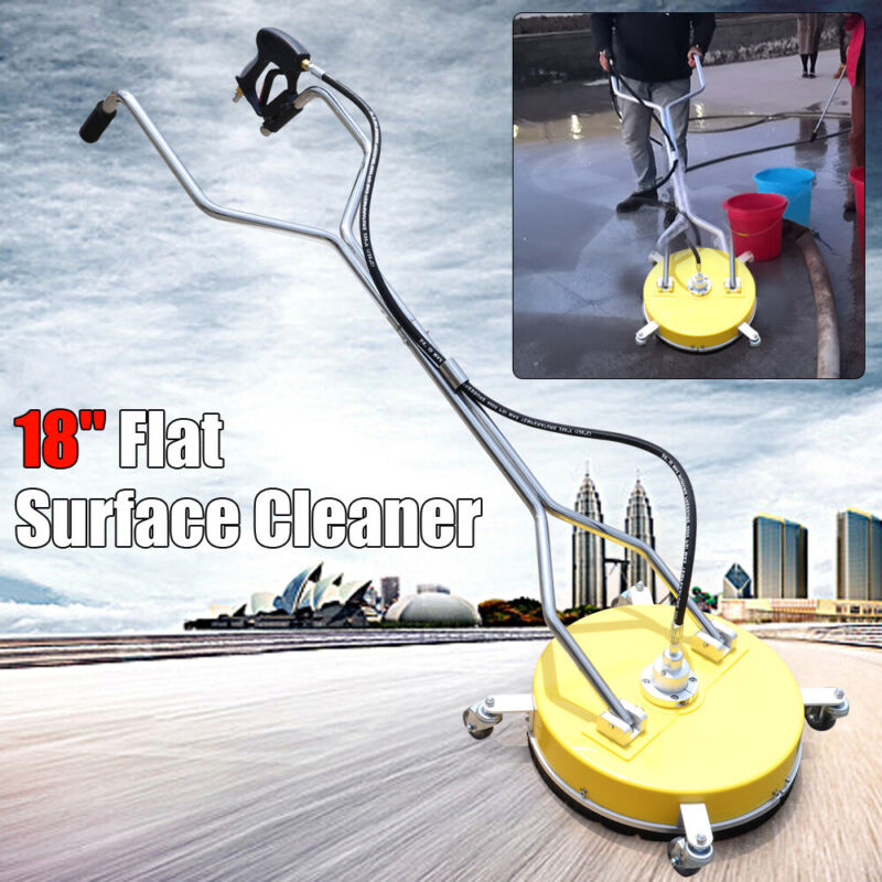 """Flat Surface Cleaner Hot/Cold Water Power Pressure Washer Concrete Driveway 18"""""""