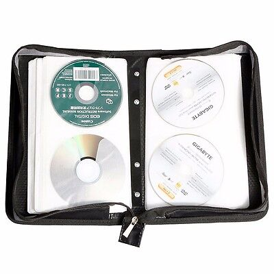 200 Capacity Cd Dvd Vcd Wallet Holder Media Storage Case Organizer Bag 025 Us