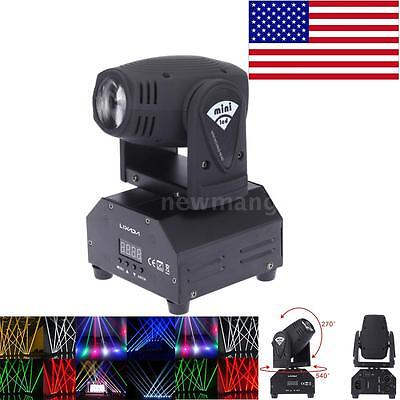 50W Rotating Moving Head Stage Lights LED Spot Beam RGBW Lighting Strobe Party