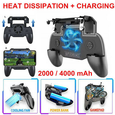 Mobile Phone Game Controller Joystick Cooling Fan Gamepad for PUBG Android (Mobil Game)