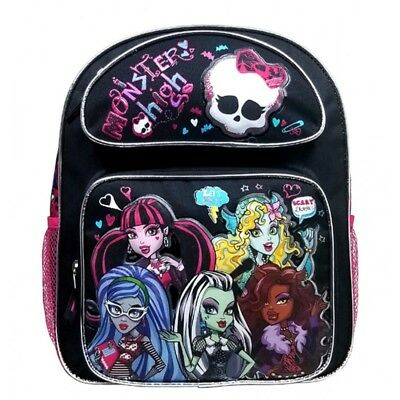 Mattel Monster High Draculaura Black Kids Girls Medium Backpack/School/Book Bag