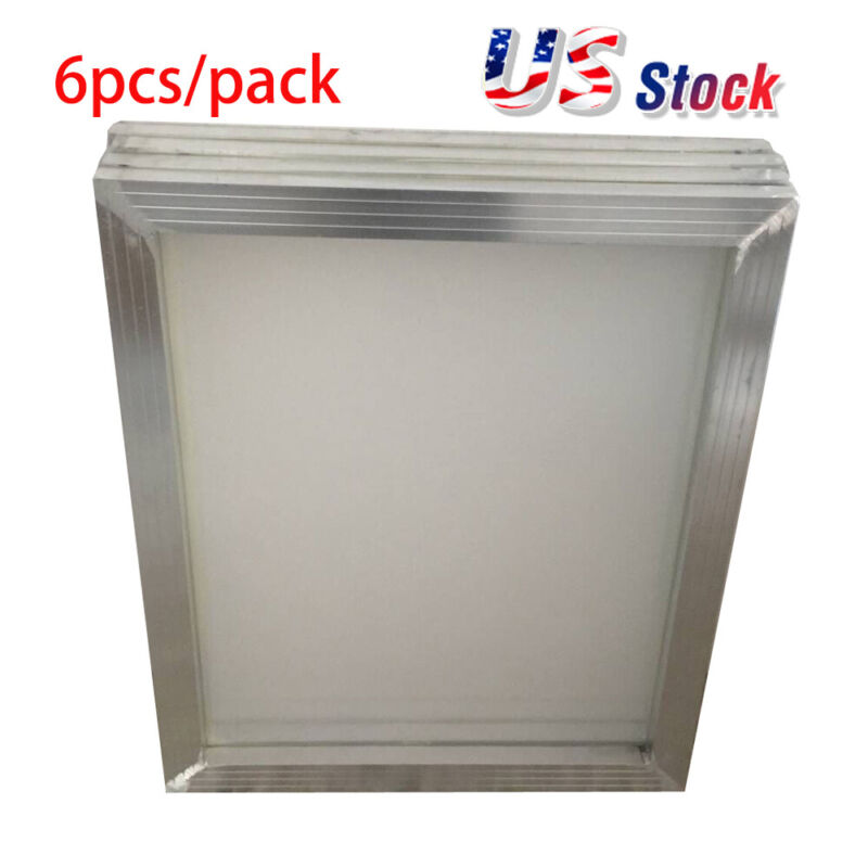 US Stock 6pcs 20x24 inch Aluminum Screen with 110 White Mesh