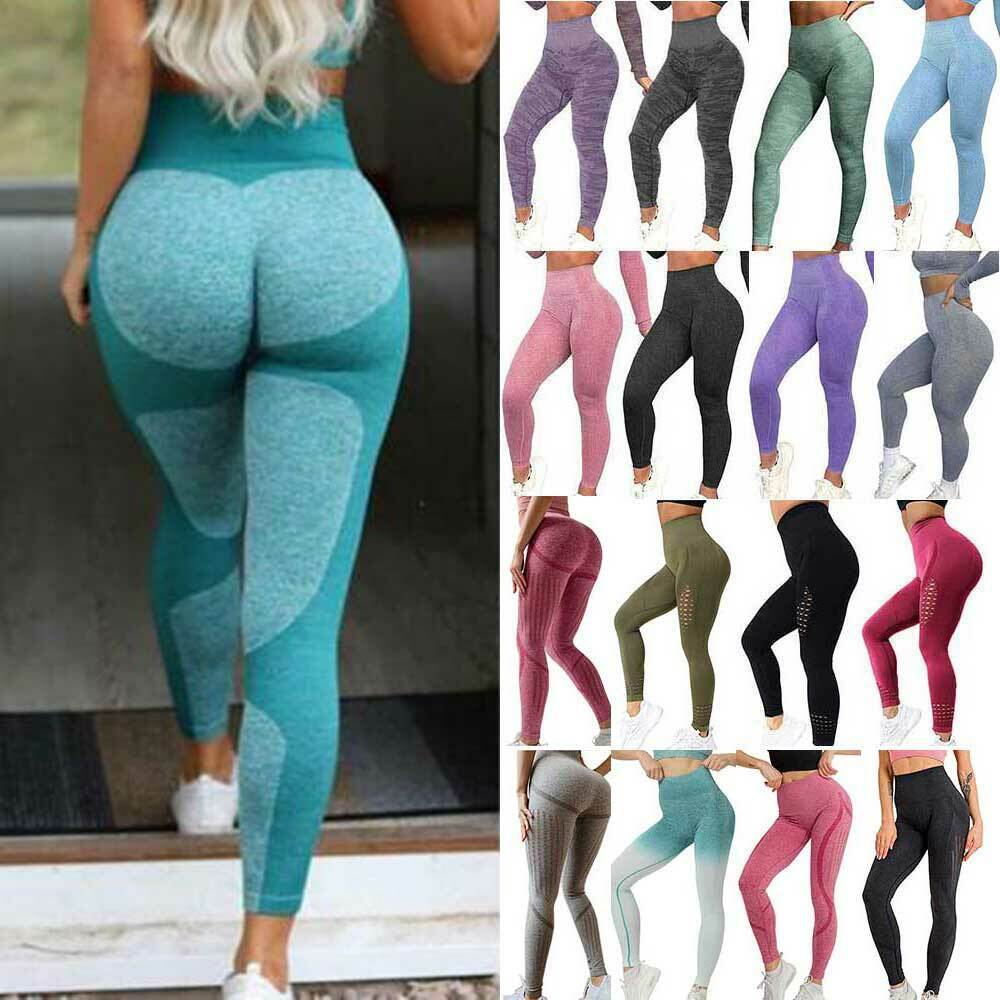Women's Seamless Leggings Yoga Pants Sports High Waisted F