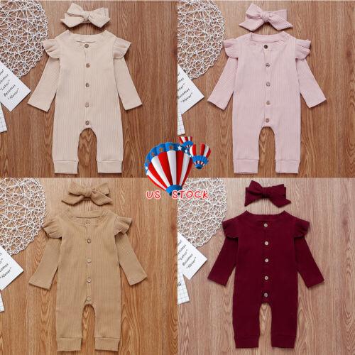 Newborn Baby Girl Boy 2PCS Autumn Clothes Set Knitted Romper