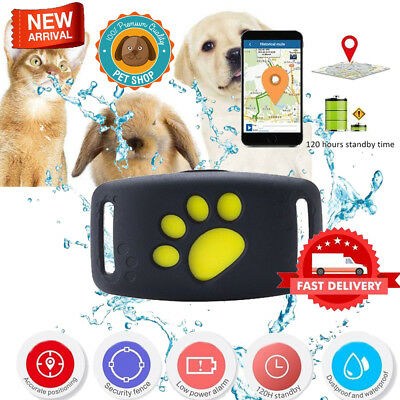 Pet Locator Dog Cat Tracker Collar Anti-lost GPS GSM Tracking Device Waterproof