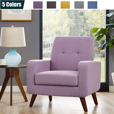 Modern Upholstered Accent Chair Comfy Arm Chair Fabric Single Sofa Living Room Arms Not Upholstered Chairs
