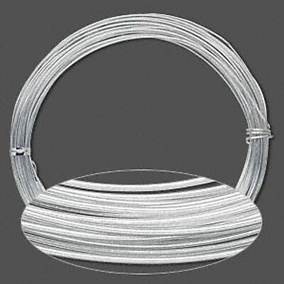 45 Feet Silver Anodized Aluminum Wire 1.5MM Round 14 - Anodized Aluminum Wire