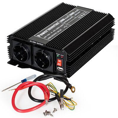 Spannungswandler Inverter 12V auf 230V 1000 2000 W Watt Wechselrichter KFZ PKW