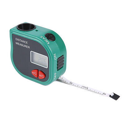 Ir Ultrasonic Digital Distance Laser Meter Rangefinder Measure Diastimer W Tape
