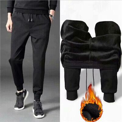 Mens Winter Harem Pants Drawstring Fleece Lined Thick Thermal Jogger Sweatpants