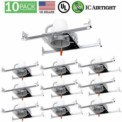 Light New Construction Housing - SUNCO 10PACK 4-INCH NEW CONSTRUCTION CAN AIR TIGHT IC HOUSING RECESSED LED LIGHT
