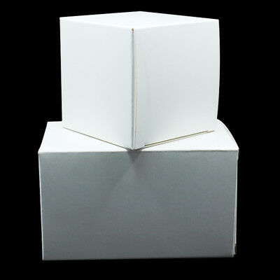 White Foldable Kraft Paper Box Wedding Gift Party Candy Toy Pack Cardboard Box