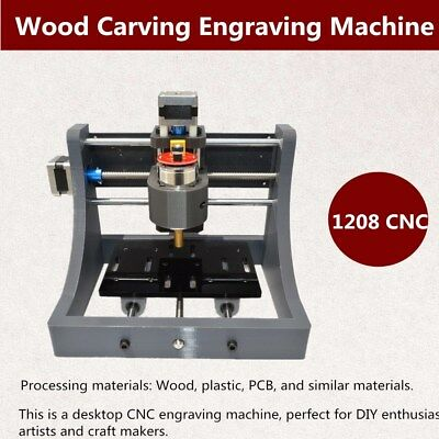 Usa 3 Axis Diy 1208 Wood Engraving Carving Pcb Milling Machine Router Engraver