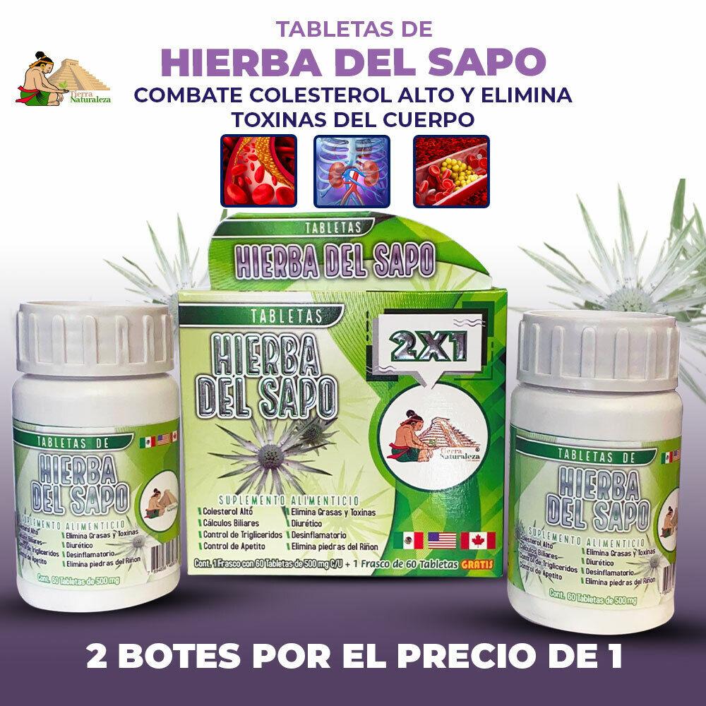 Hierba del Sapo Toad Grass Suplemento Alimenticio para colesterol alto 2 x 1