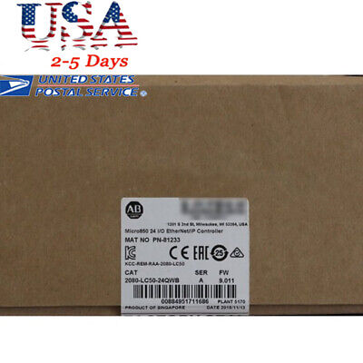 New Us Allen-bradley 2080-lc50-24qwb Micro850 Na Controller High Quality Ups Ce